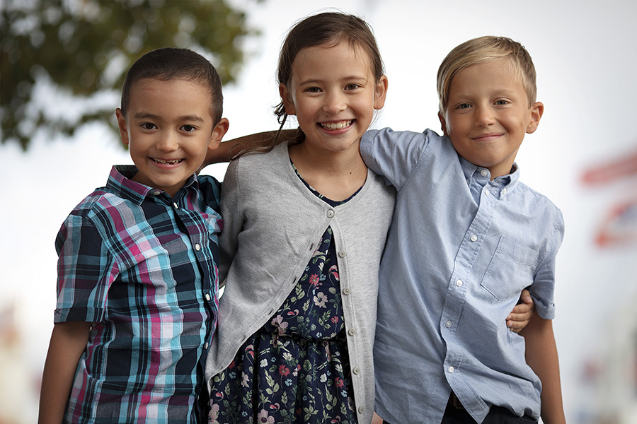 Familienportrait Kinderfotografin Fotostudio Hafen